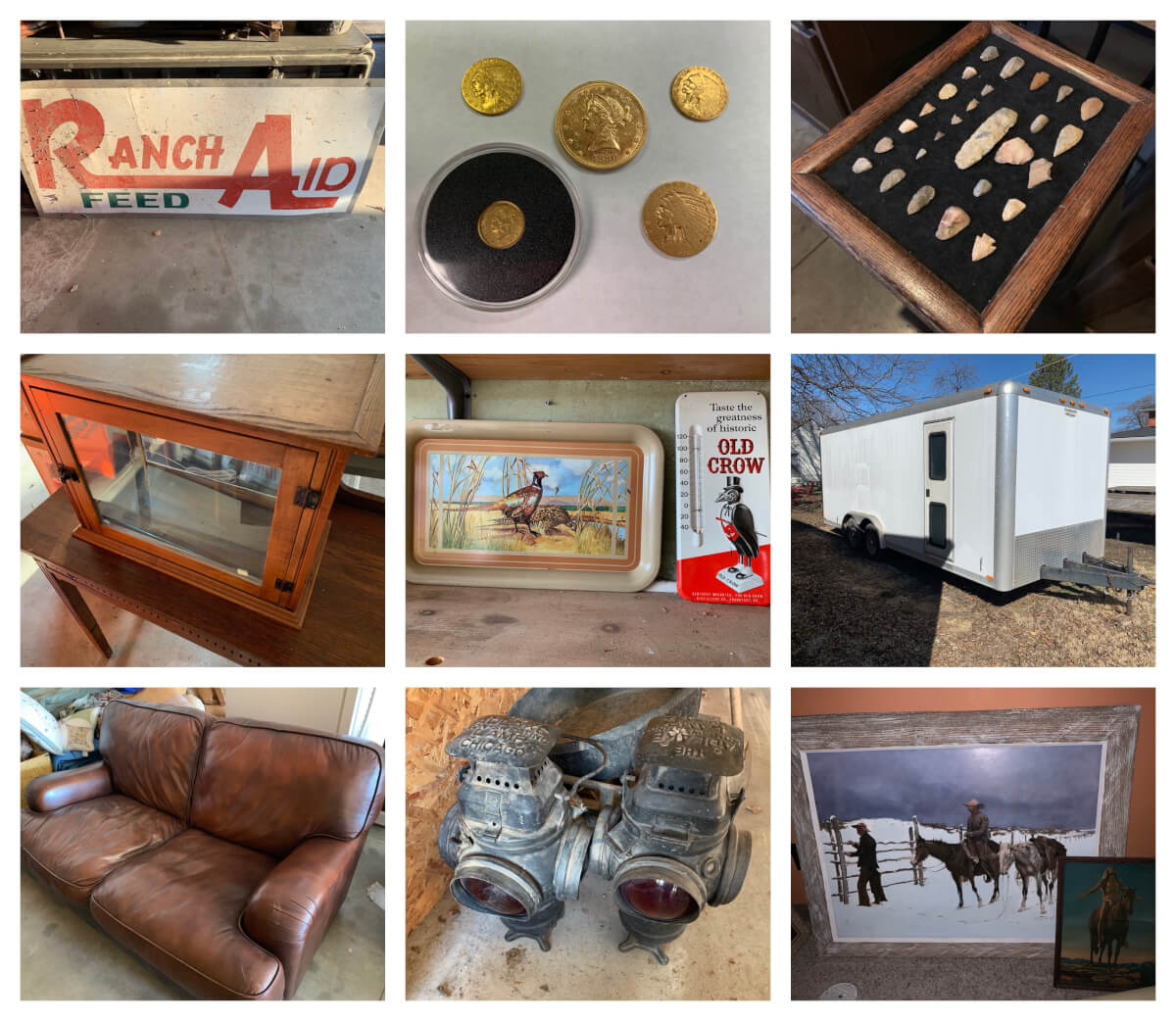 Sundgren Auction-Antiques, Coins, Furniture, Box Trailer