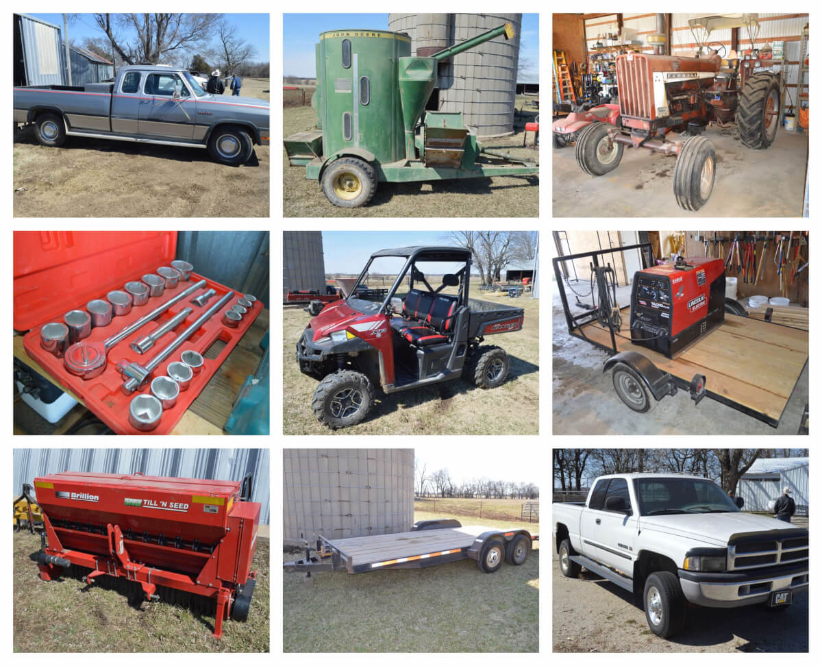 Polaris Ranger, Tractors, Farm Equipment, Tool Auction Near Severy