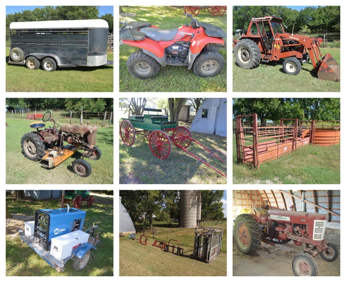 Tractors, Stock Trailer, ATV, Wagon, Tools & Equipment Auction-Coyne Creek Ranch