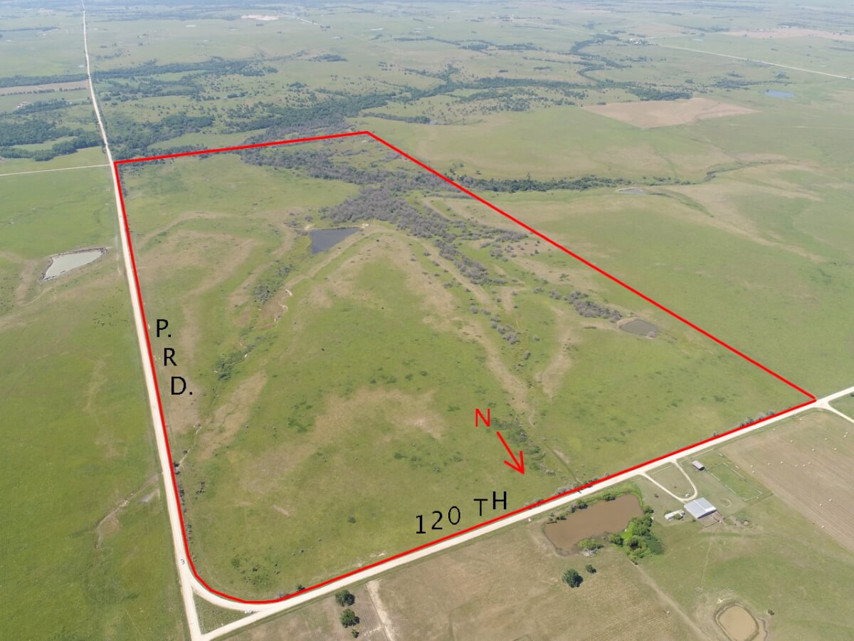 320+- Acres Greenwood County Kansas Pasture & Hunting Land South Of Eureka