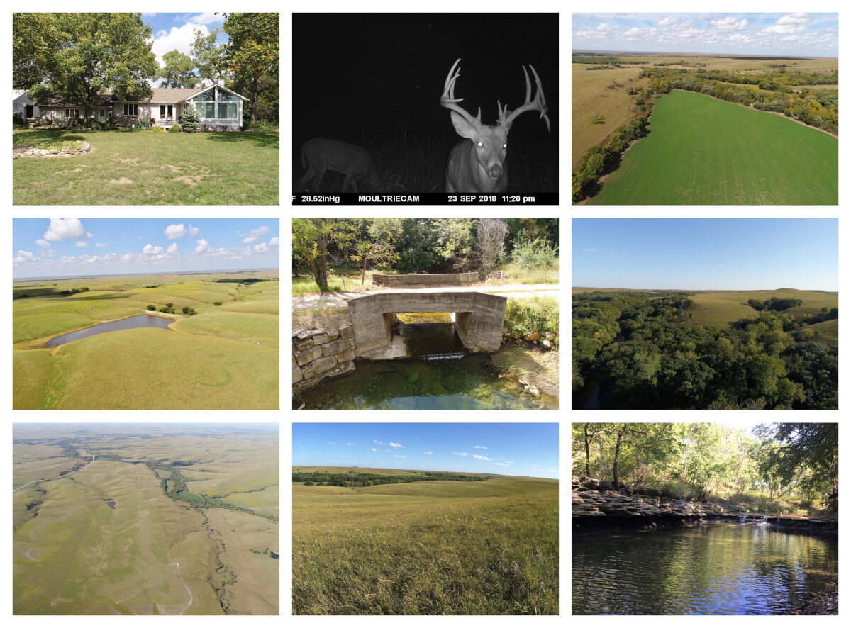 Coyne Creek Ranch Located in the Scenic Flint Hills of Chase County KS – 915 Acres, 3 Tracts