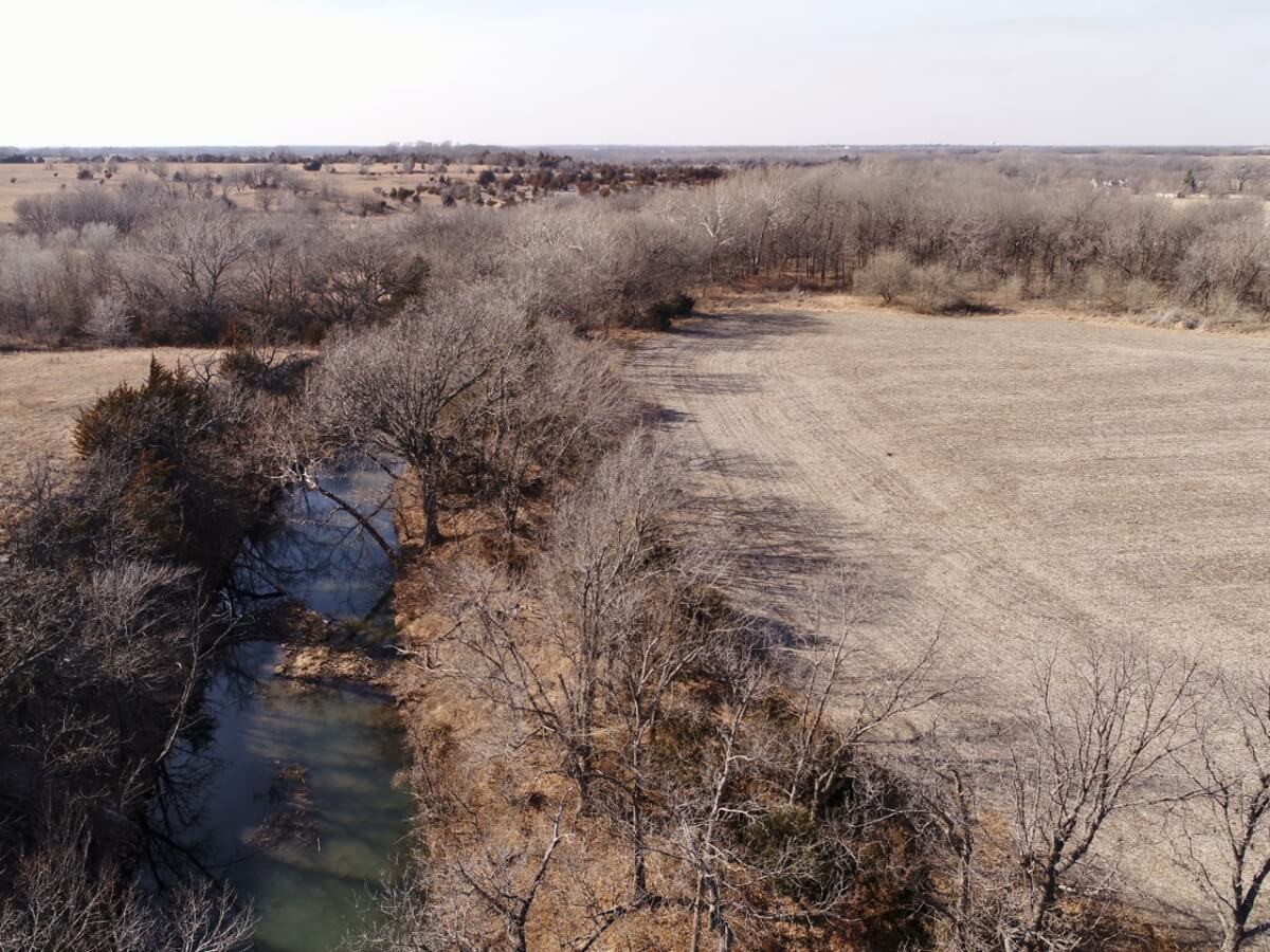 236+- Acres, 2 Tracts, Butler County Kansas Land w/ Pasture, Tillable, Bird Creek, Timber Near El Dorado