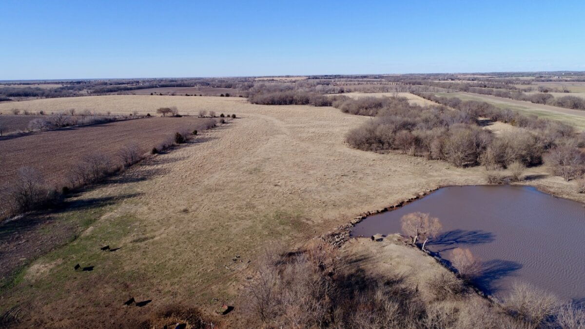160+- Acres Butler County Kansas Pasture, Tillable, Hunting, Fishing Land Near Augusta