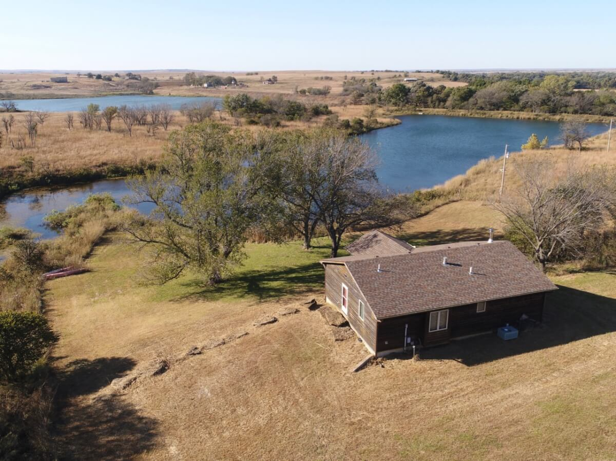 80+- Acres, Beautiful Clear Water Lake, Cabin, & Timber-Elk County, Kansas