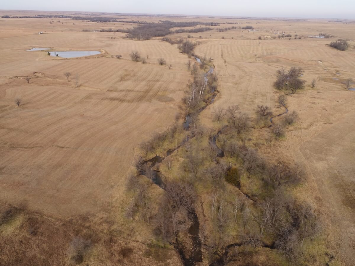 160+- Acres Greenwood County Kansas Creek, Pasture, Timber, & Ponds Between Eureka & Hamilton