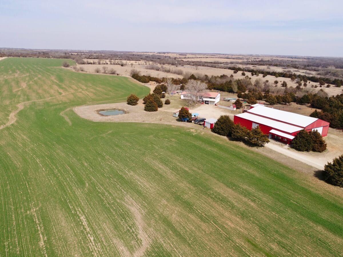 Rural Residence on 80+- Acres Near Augusta, Butler County Kansas
