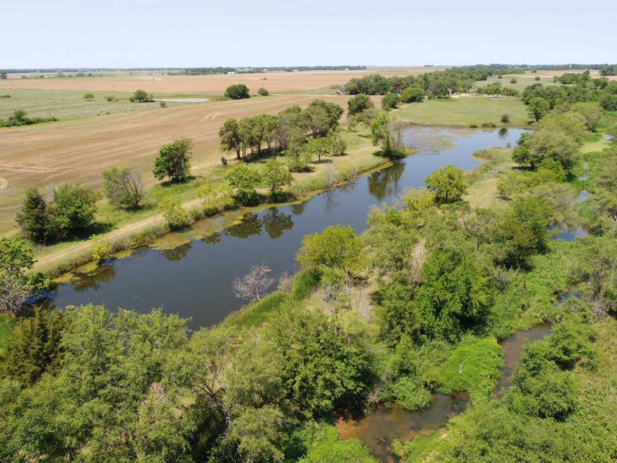 43+- Acres Kingman County Kansas Land For Sale-Pond, Creek, Timber, Pasture & Tillable
