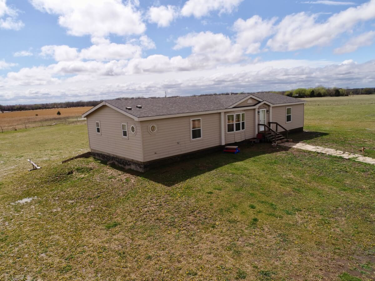 Home & Barn on 40+- Acres Near Cassoday, Butler County, Kansas For Sale