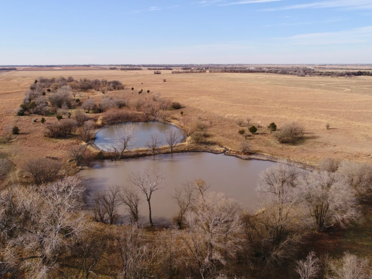 147+- Acres – 3 Tracts Sedgwick County Kansas Land For Sale; Hunting, Fishing, Pasture, & Timber