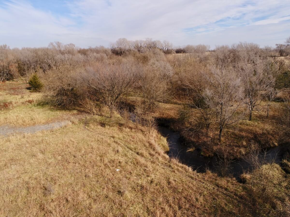 27+- Acres Sedgwick County, Kansas Land For Sale-Creek, Timber, Rural Water Meter & Pasture