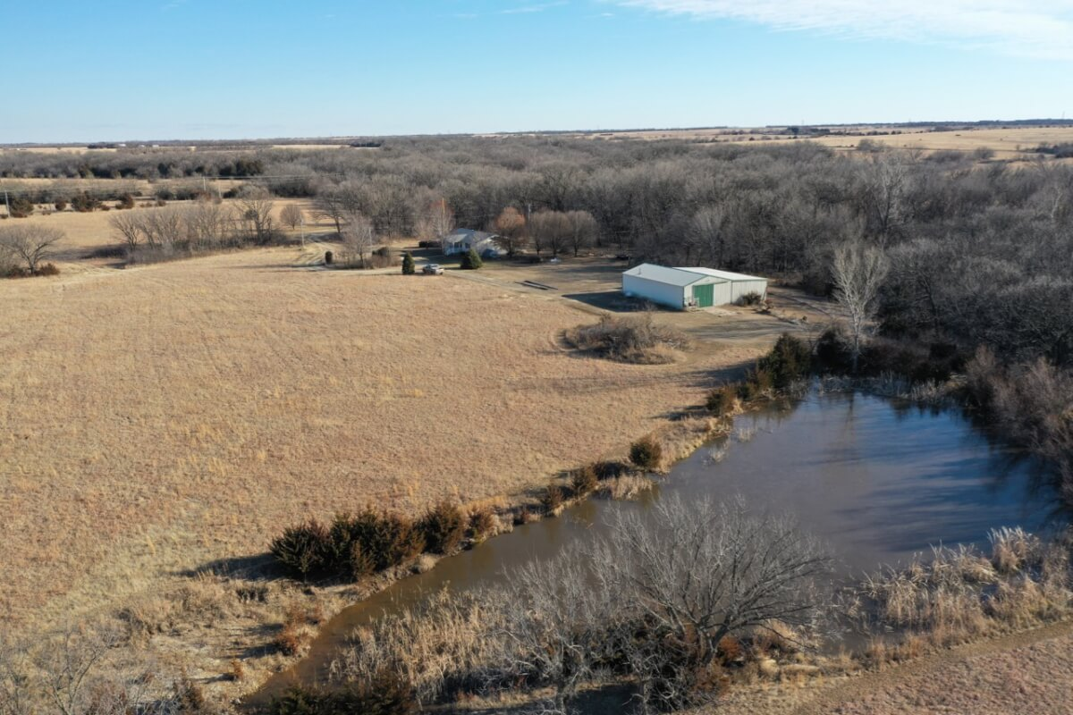 Rural Real Estate Auction – House & Shop Building, 29.4 Acres, East of El Dorado Ks