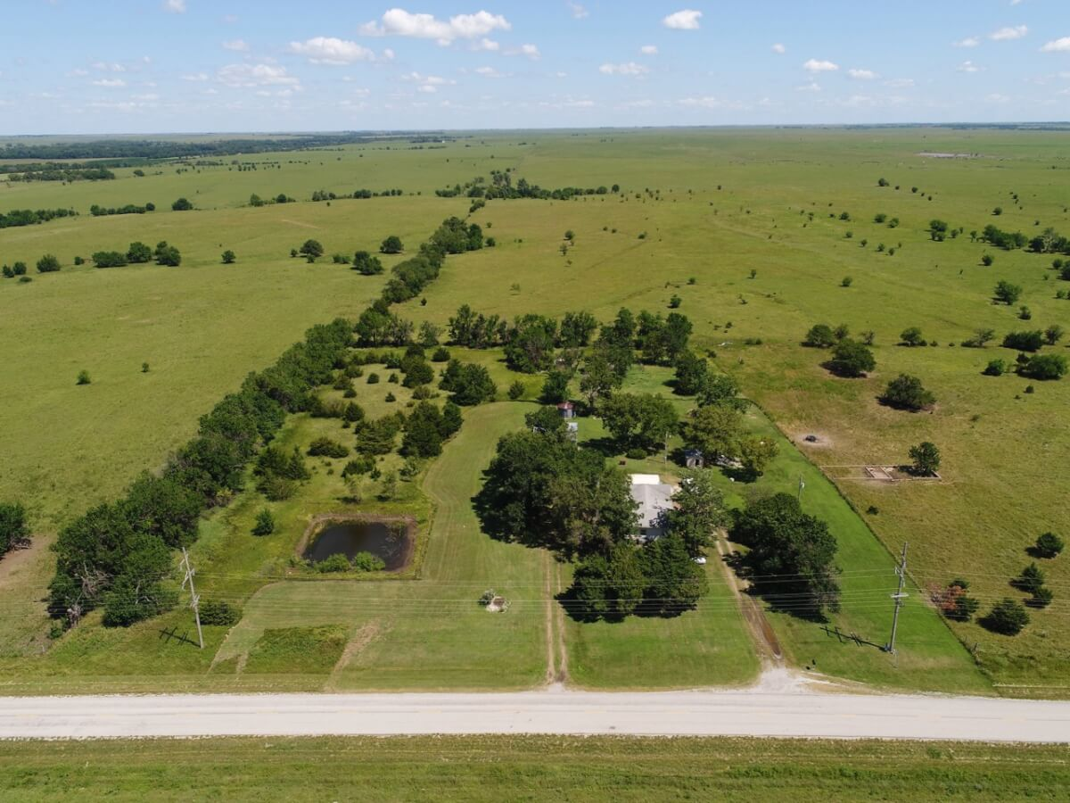 AUCTION: 3 Bed 1 Bath Home on 4.3+- Acres Near Cassoday Kansas