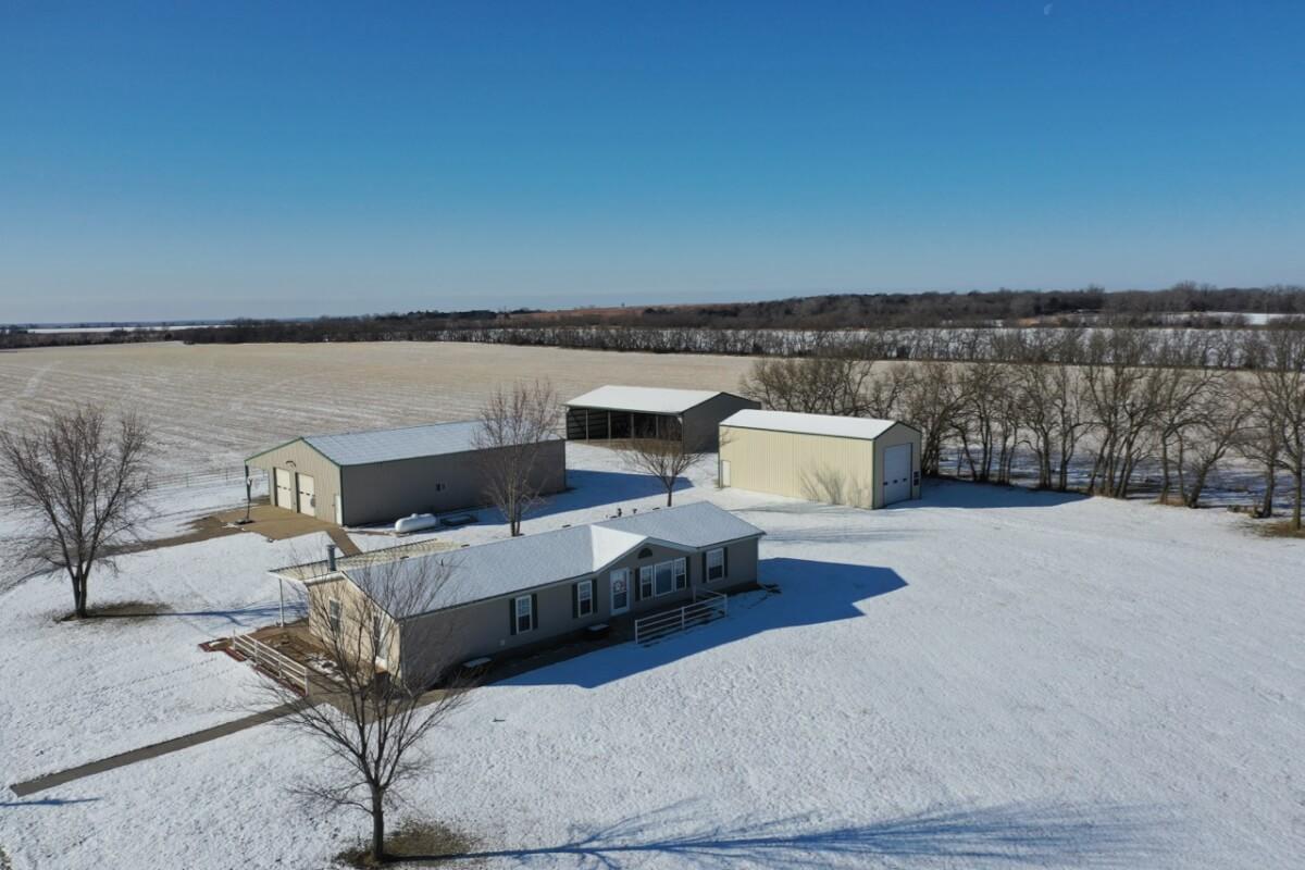 House & Buildings on 160+- Acres; 1962 140th St. Eureka, Kansas 67045