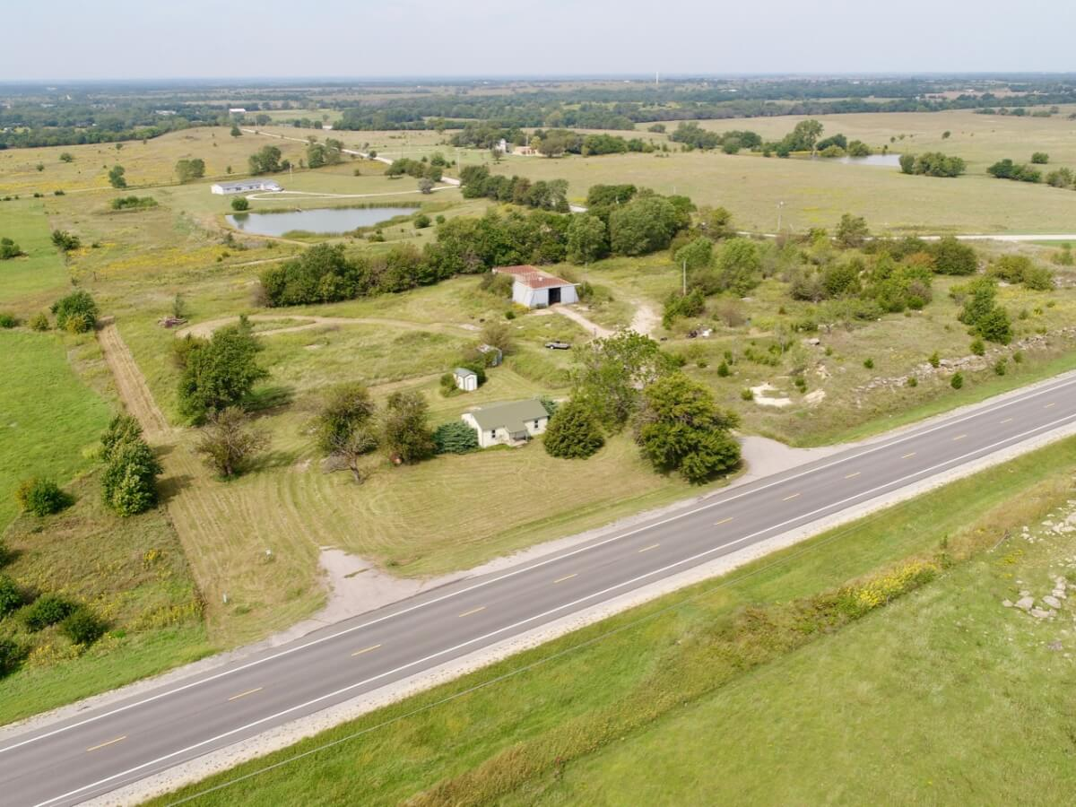5.9 Acres, House, Shop Building w/ Blacktop Frontage! 1935 NW HWY 196 El Dorado KS 67042