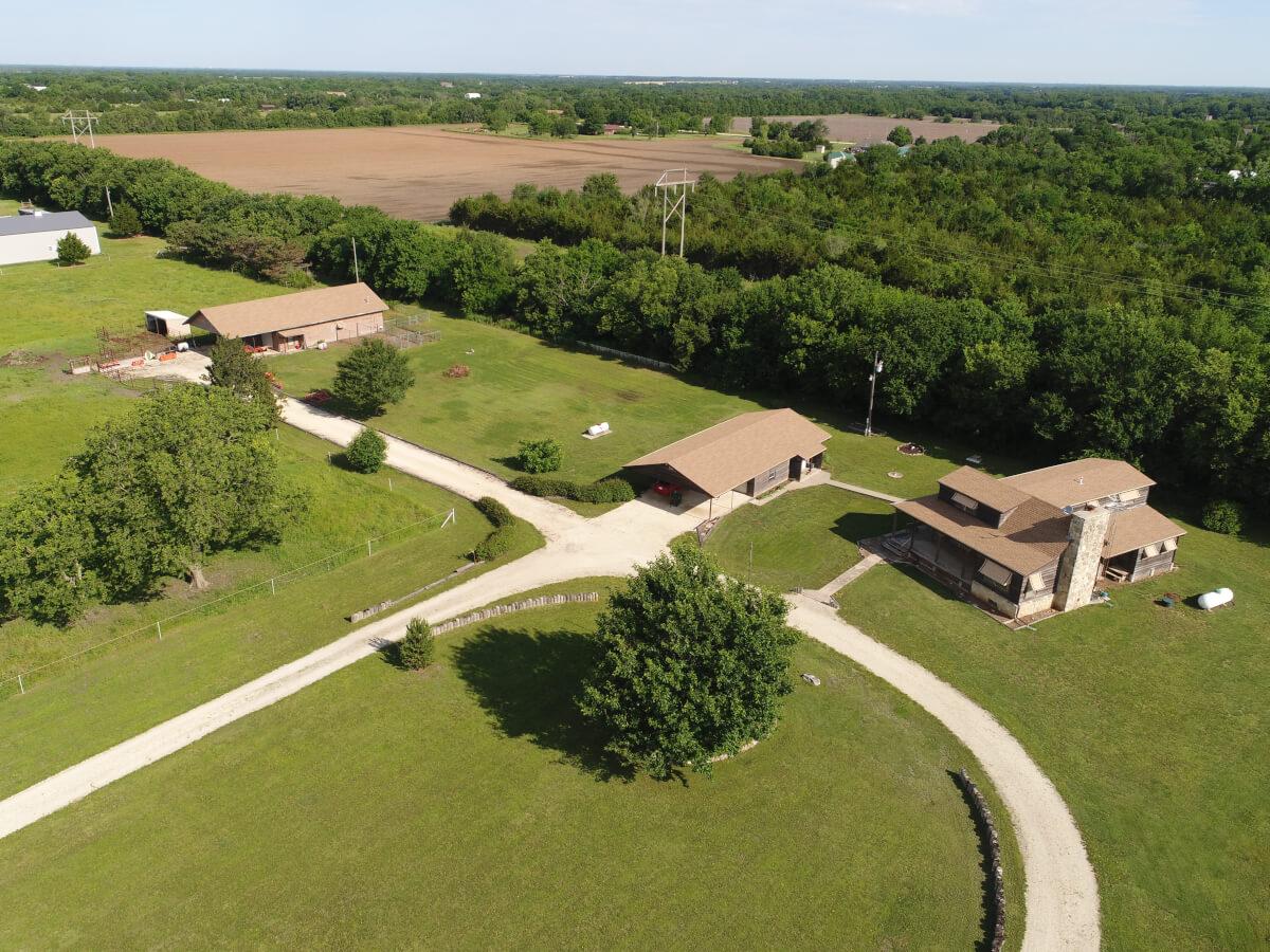 Home & Buildings on 8 Acres Near Towanda Butler County Kansas For Sale