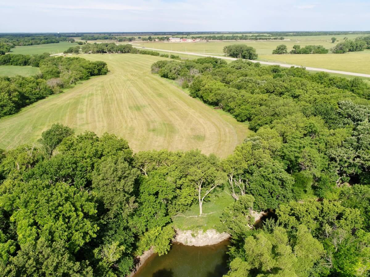 48+- Acres On Doyle Creek, Home & Barn, For Sale Near Peabody Kansas