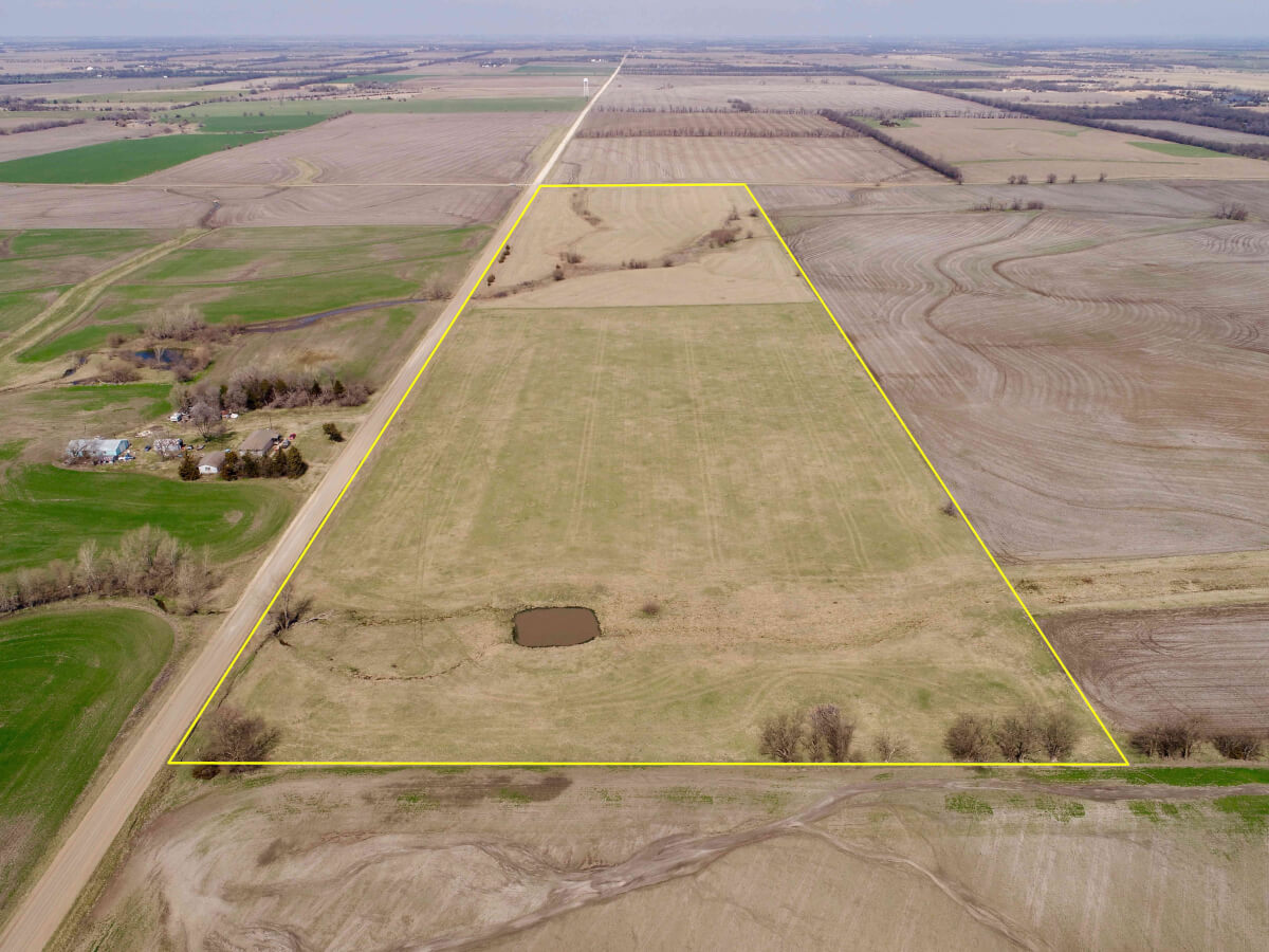 40+- Acres Harvey County Hay Meadow North of Walton, KS