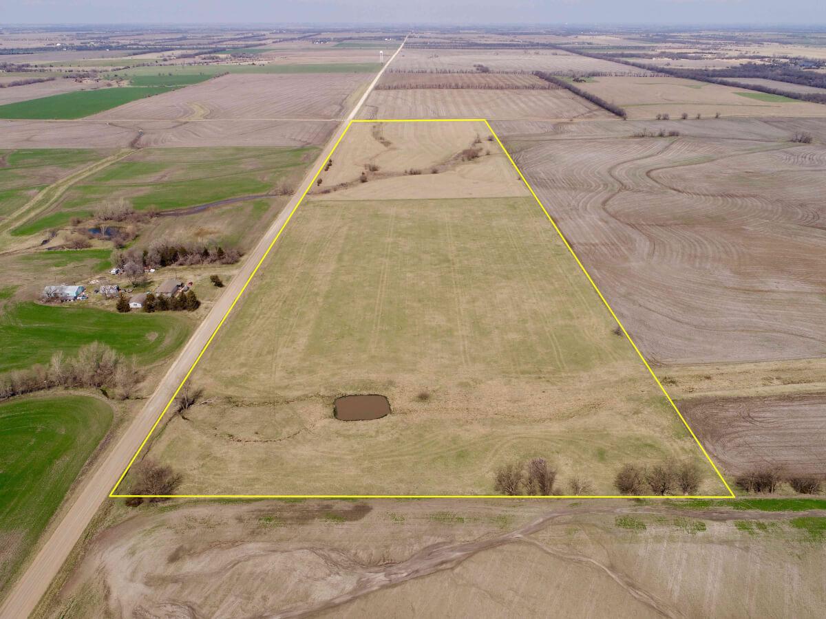 40+- Acres Harvey County Hay Meadow North of Walton, KS