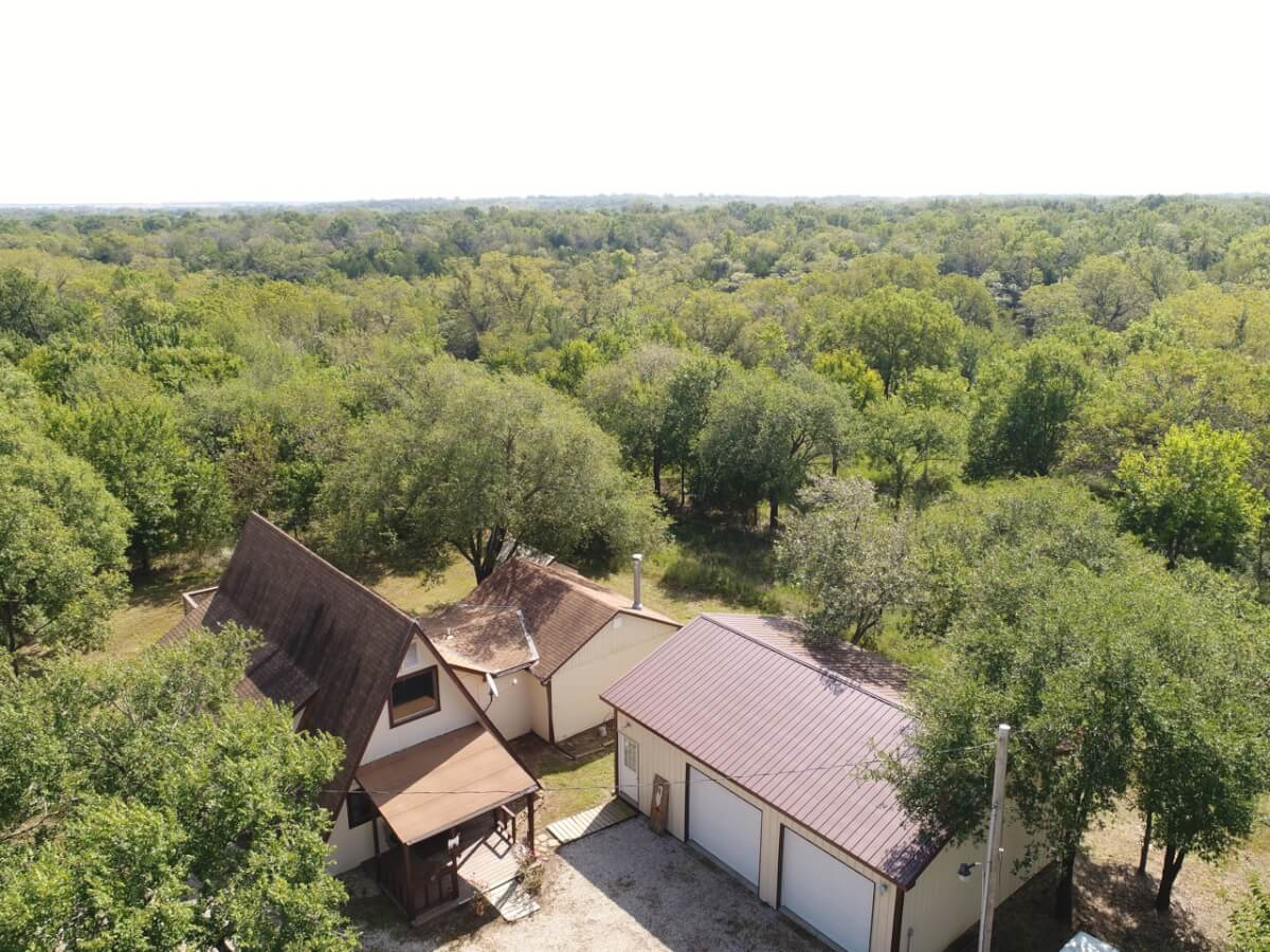A-Frame Hunting Cabin & Building On 42.8 Acres-Greenwood County, Kansas