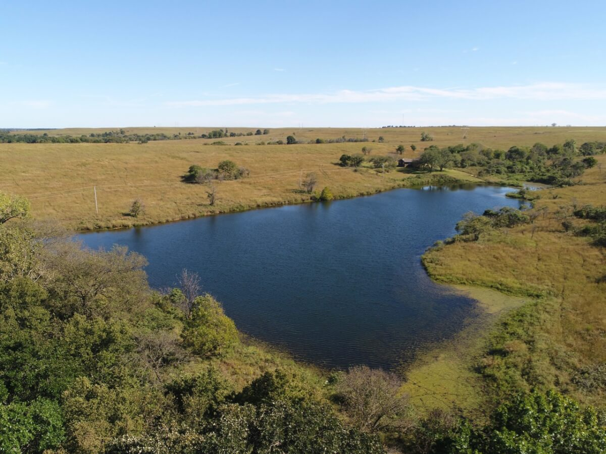 80+- Acres, Beautiful Clear Water Pond, Cabin, & Timber-Elk County, Kansas