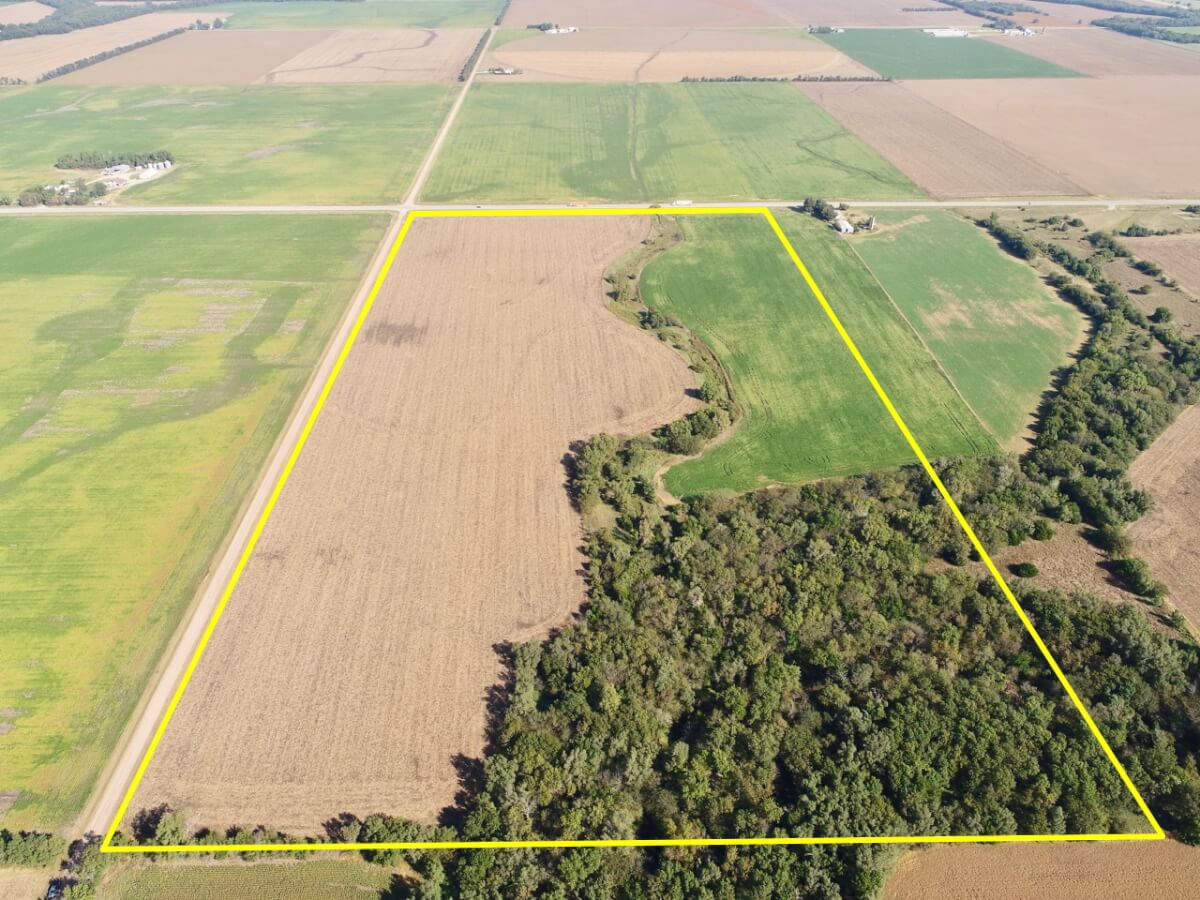 77+- Acres Tillable, Timber, & Creek West of Newton-Harvey County, Kansas