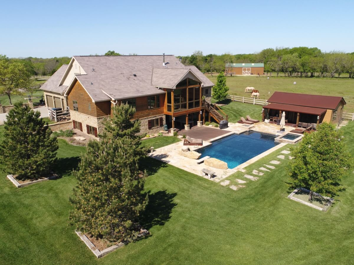 Premier Home on 220+- Acres, Hunting & Recreation-Butler County, Kansas