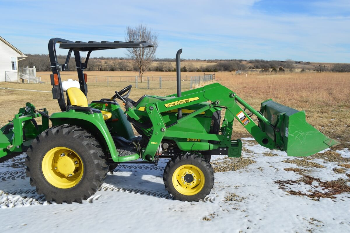 ONLINE ONLY AUCTION: John Deere 3038E, Implements & More