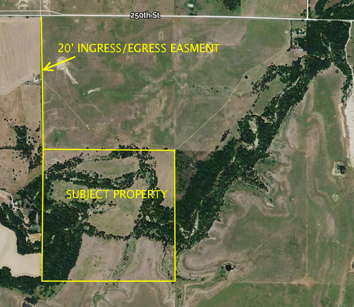 160+- Acres Greenwood County Kansas Hunting Land For Sale; Creek, Pasture, Timber