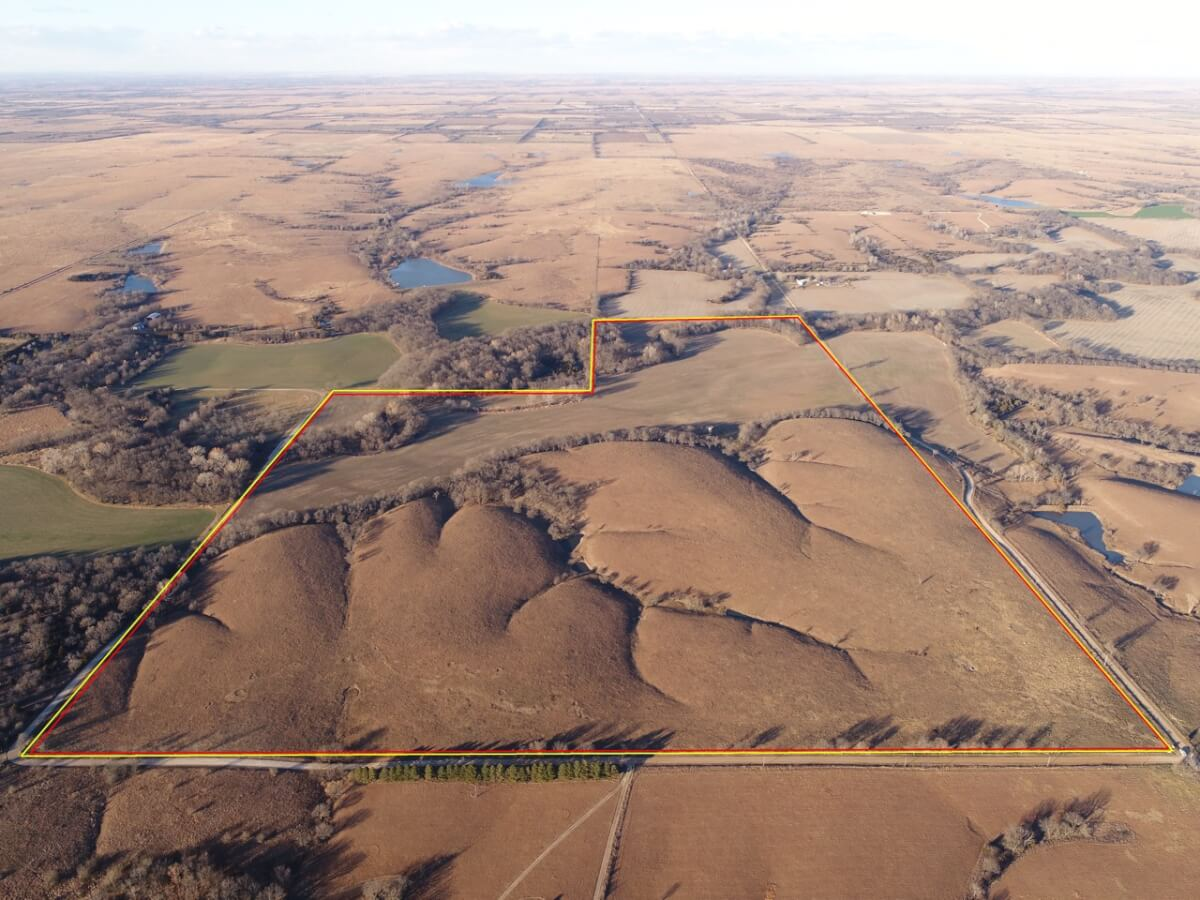 200+- Acres Premium Butler County Kansas Flint Hills Land For Sale