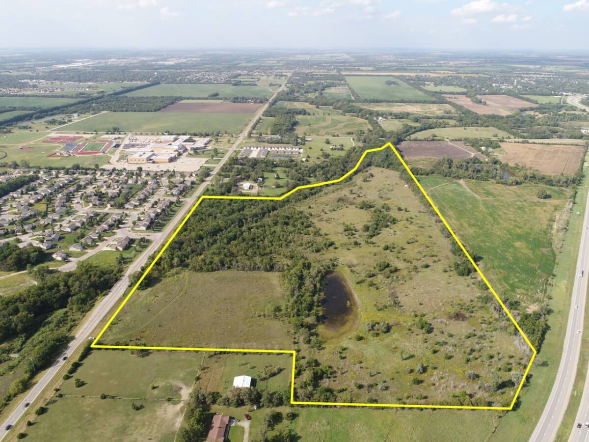 58+- Acres on N Hillside Rd Near HWY 254 Interchange SF, MF, Retail Zoning