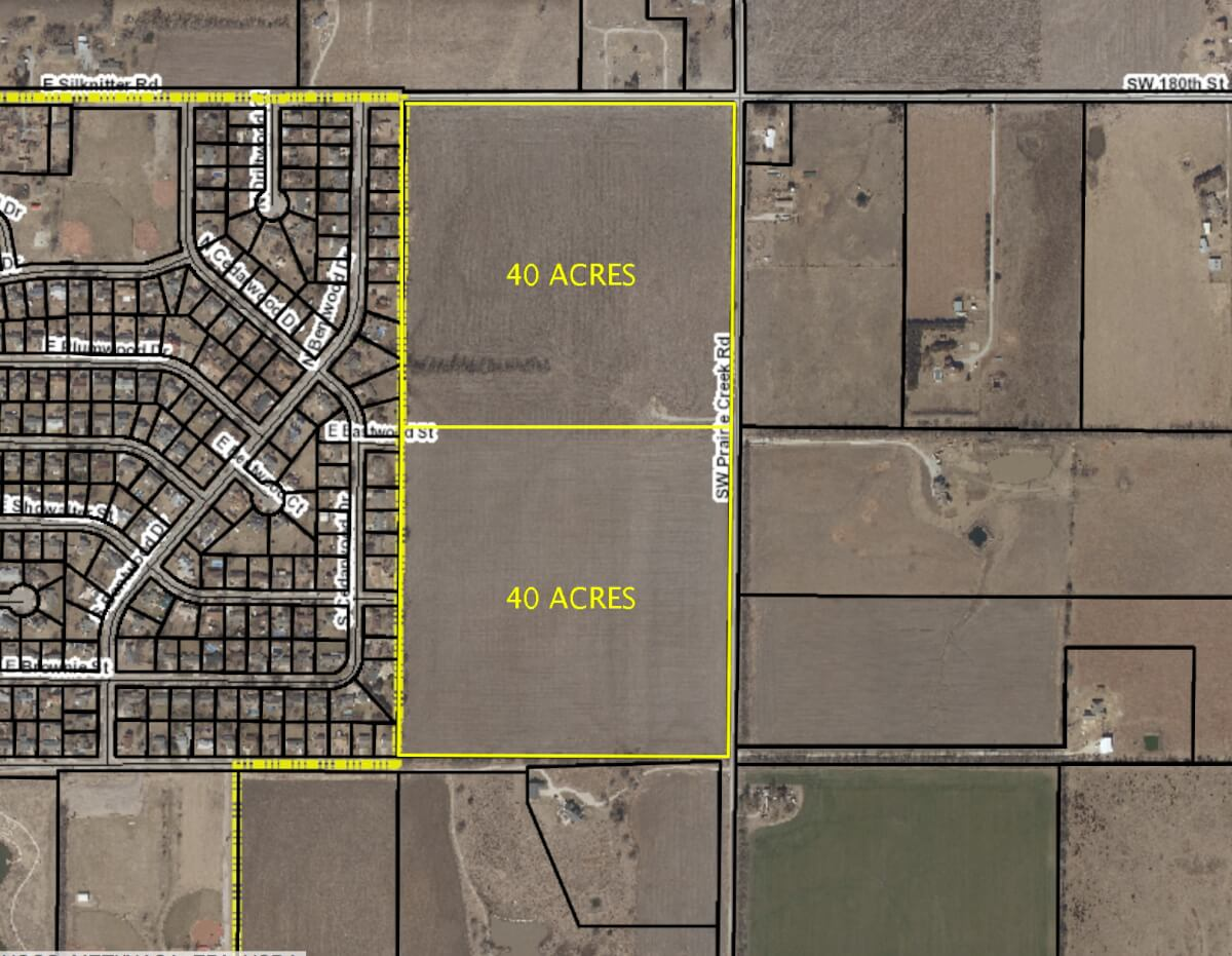 (2) 40 Acre Tracts of Land For Sale, Rose Hill Kansas