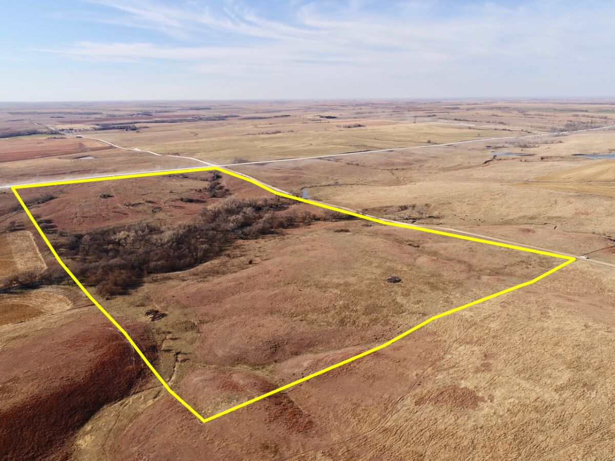 80+- Acres Premier Osborne County Kansas Hunting Land, Pasture, & Timber