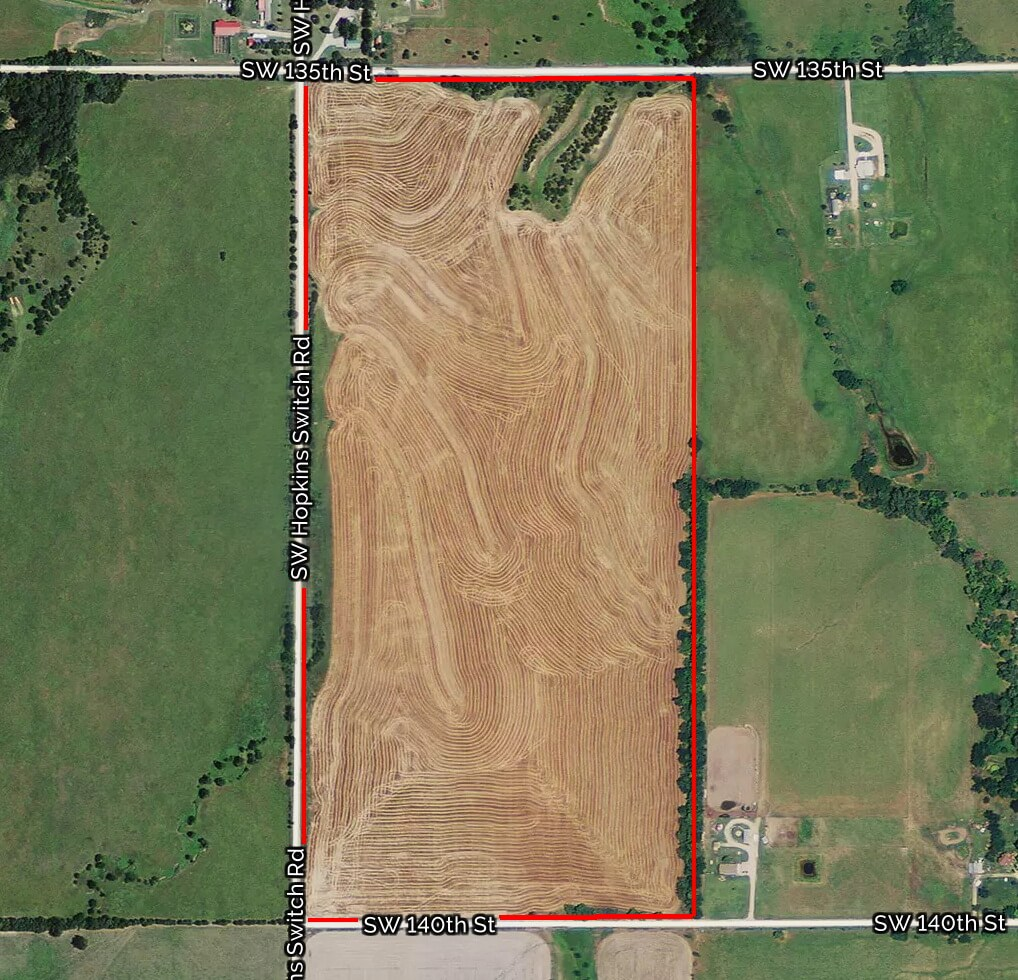 75+- Acres Butler County Ks Tillable Land Near Augusta
