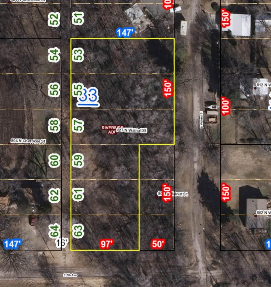 .84 Acre Lot in El Dorado – 827 N WALNUT
