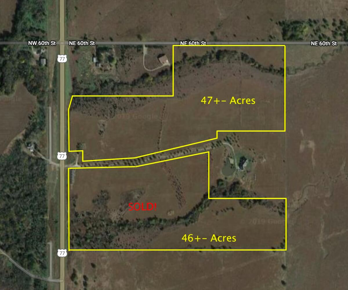 46+- Acres Kansas Flint Hills Building Site North of El Dorado Land For Sale