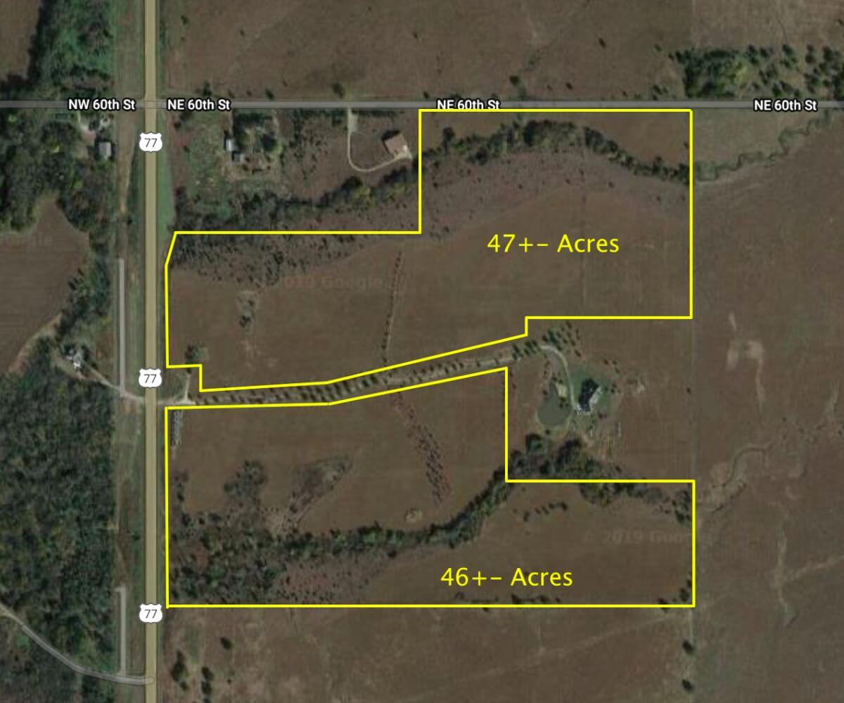 (2) Land Tracts North Of El Dorado Kansas; Pasture, Timber, & Rolling Terrain