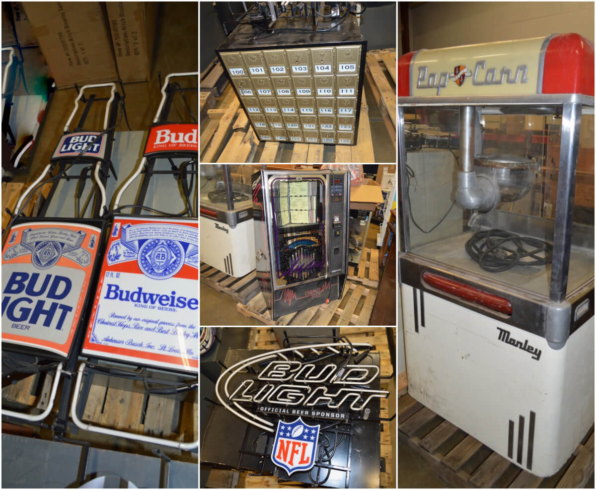 Advertising Neon Signs, Antiques, Collectibles, Furniture Auction in El Dorado