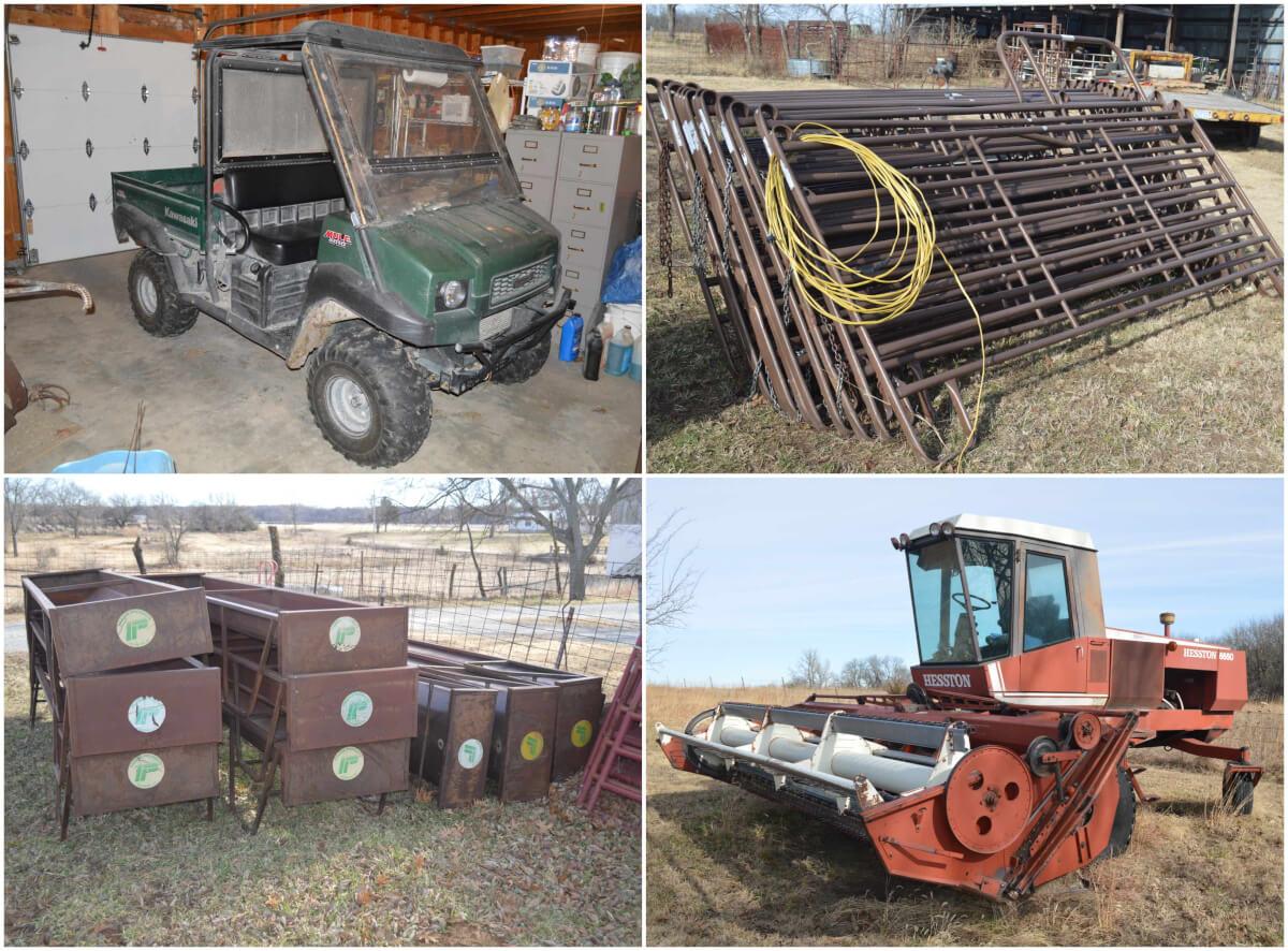 Kawasaki Mule, Trucks, ATVs, Equipment, Tool Auction South of Leon