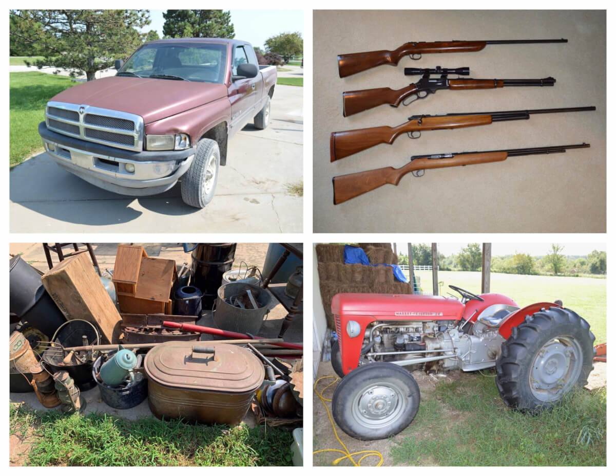 Ram 1500, MF Tractor, Guns, Antiques, Tool Auction in Benton