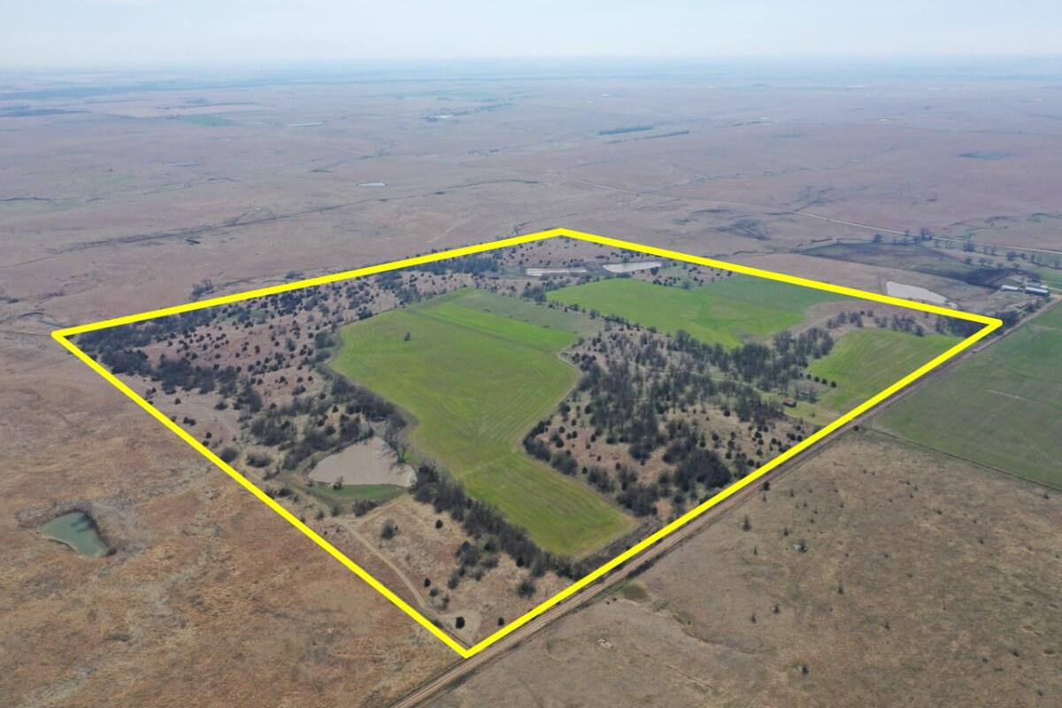 160+- Acres Marion County Kansas Hunting Land South of Florence